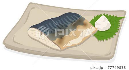 焼き魚/塩鯖/鯖の塩焼き 77749838