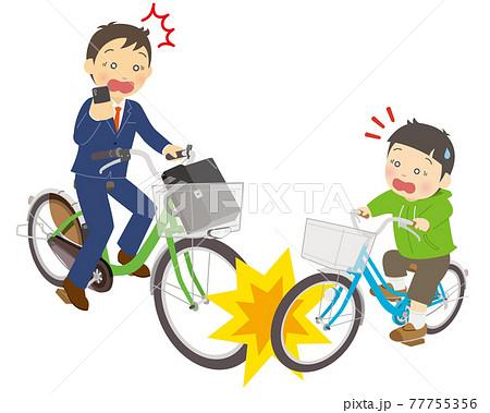ながらスマホによる自転車の交通事故 77755356