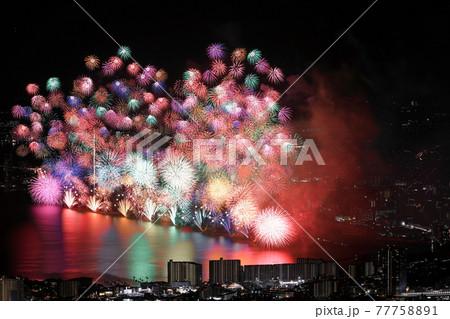 琵琶湖花火大会~比叡山より(3) 77758891