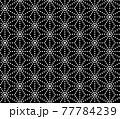 ドットで表現した麻の葉文様のシームレス・パターンイラスト 77784239