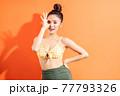 Woman, bikini, summer 77793326