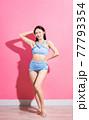 Woman, bikini, summer 77793354