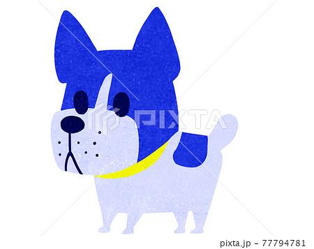 カートゥーンタッチのフレンチブルドック犬のイラスト 77794781