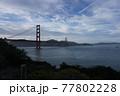 夕日のゴールデンゲートブリッジ 77802228