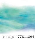 青い波のイメージの水彩テクスチャ 77811894