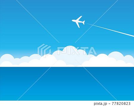 風景 海 飛行機 雲 空 77820823