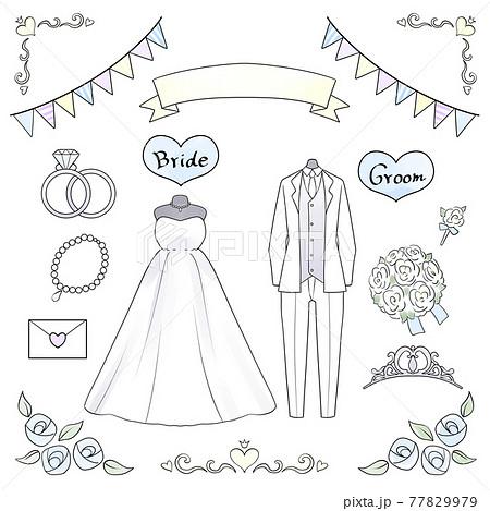 結婚式のイラストセット 77829979