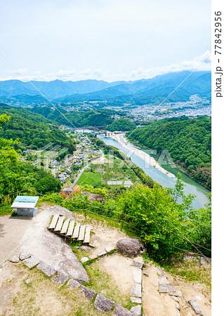 苗木城跡・天守櫓からの眺め 77842956