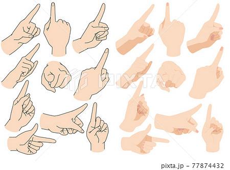指差し 人差し指のポーズ 77874432