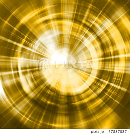 派手な色の光が回転して拡大するイメージの背景。爆発、ワープ、インパクト、高速。 77887027
