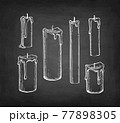Chalk sketch of candles. 77898305