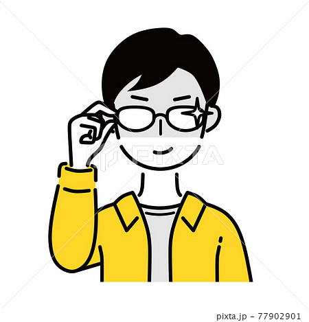 メガネ 男性 企み顔 77902901