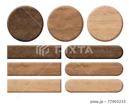 木の板の見出しセット 77903235