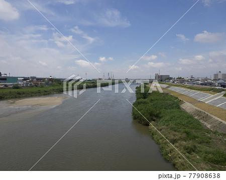 大和川に架かる第四新明治橋から見る風景 77908638