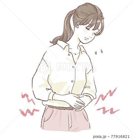 腹痛の女性 77916821