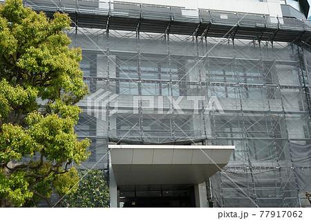 タワーマンションの修繕工事。(足場2) 77917062