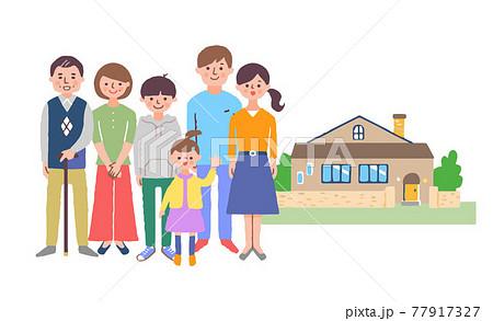 3世代家族と家 77917327