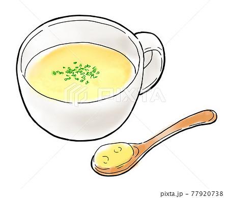 食べ物 イラスト コーンポタージュ 77920738