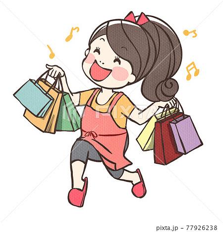 ショッピングを楽しんだママちゃん 77926238