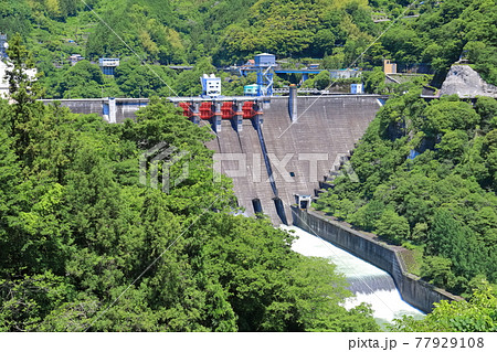 【高知県】新緑の大渡ダム 77929108