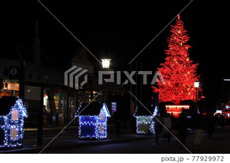 函館開港通り金森倉庫のクリスマスファンタジー  77929972