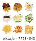 Breakfast Time Emoji Set 77934643