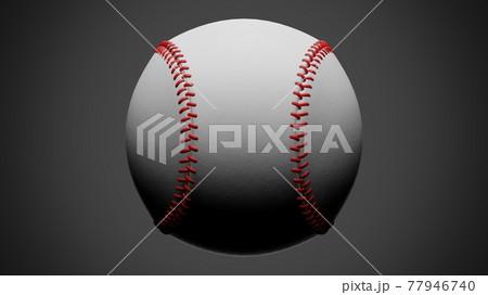 Baseball ball isolated on gray background. 77946740
