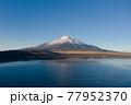山中湖 富士山 富士五湖 空撮 77952370
