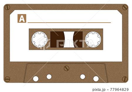 カセットテープ_ブラウン 77964829
