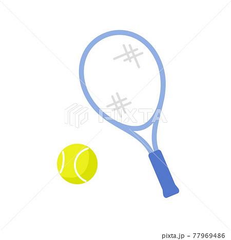 テニスラケットとボール 77969486