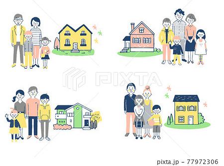 家族と家 4組セット 77972306