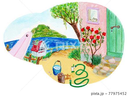 庭のある風景 77975452
