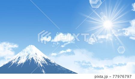 美しい富士山のイラスト 77976797