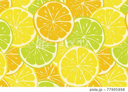 柑橘類のスライスのシームレスパターン 77995898