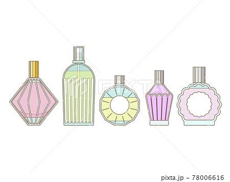シンプルな香水瓶のイラストセット 78006616