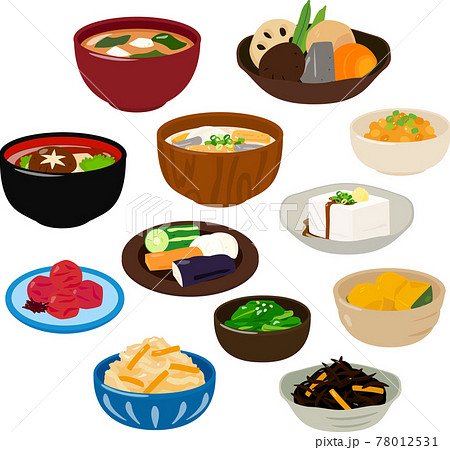 和食のおかずのイラストセット 78012531