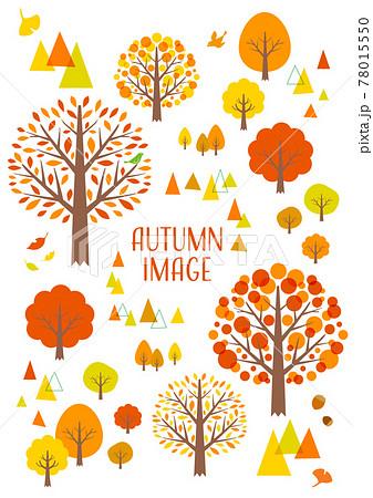 紅葉の秋の木 イラスト 78015550