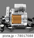 グレイバックに電気自動車用モーターとギアボックスのイメージ 78017088