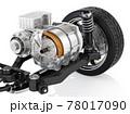 電気自動車用のモーター駆動のイメージ(カット図) 78017090