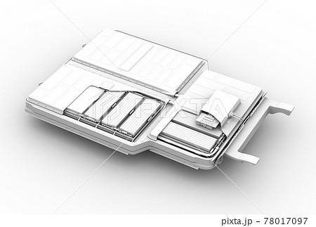 バッテリーパックのクレイレンダリングイメージ 78017097
