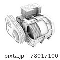 電気自動車用のモーター駆動のクレイレンダリングイメージ(カット図) 78017100