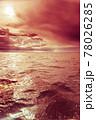 Beautiful sunset on the ocean sea 78026285