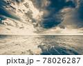 Baltic sea sunset horizon and cloudy sky 78026287
