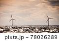 Wind turbines farm in Baltic Sea, Denmark 78026289