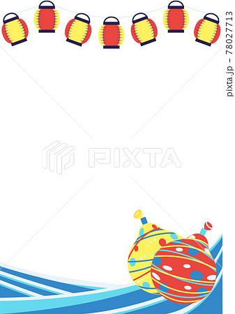 夏祭りの背景素材(ヨーヨー風船) 78027713