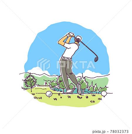 ゴルフのイラスト-ベクター素材 78032373