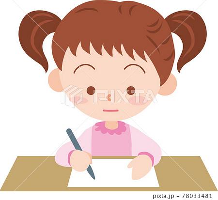 書類に記入する女の子 78033481