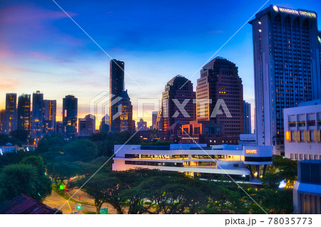 大都市の夜景 78035773