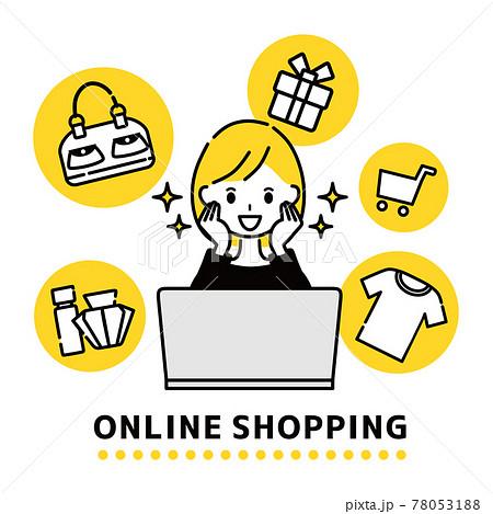 オンラインショッピング 女性 78053188