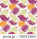 Seamless pattern with tropical leaf palm . Vector illustration. 78055845
